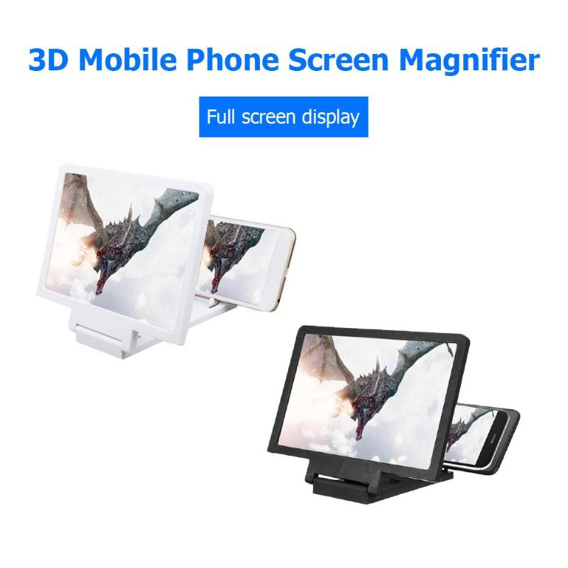 3D Screen Amplifier Mobile Phone Magnifying HD Stand For Video Folding Screen Enlarged Eyes Protection Phone Holder