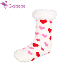 Candy Warm Lady Heart Cute Winter Indoor Slippers Kawaii Thick Casual Women Socks Keep Short Cotton Female