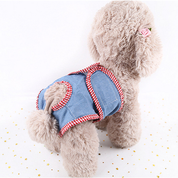 Pet Physiological Pants for Female Small Dog Puppy Washable Durable Doggie Diapers Underwear Sanitary Short Diaper Pet Underwear image