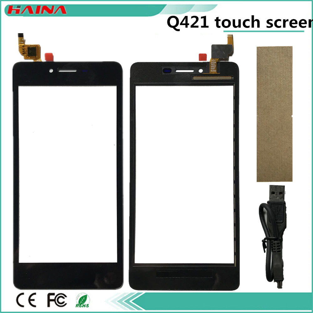 5.0 Inch For Micromax Canvas Magnus Q421Touch Screen Q421 Touch Screen Digitizer Glass Sensor Panel B/w/B/G Color With Tape