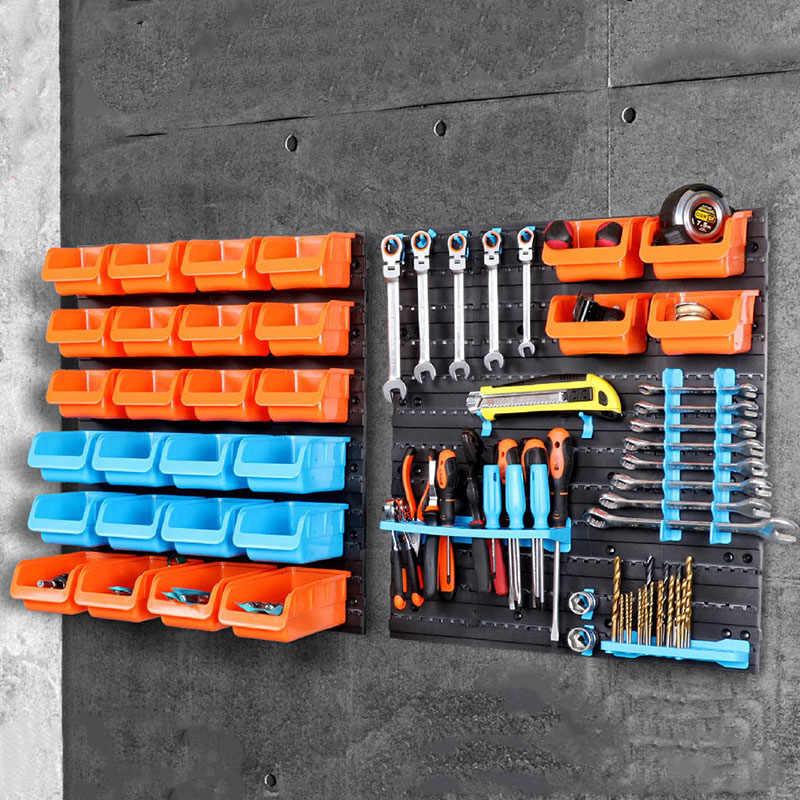 wall mounted storage box tool parts garage unit shelves plastic tool case hardware tool rack organize box abs box