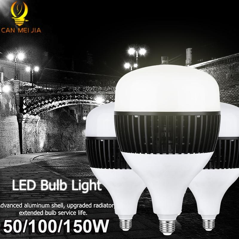 Super Bright Industrial Lighting 50W 80W 100W 150W E27 Led Garage Light Lamp 220V Led High Bay Industrial Lamp For Workshop