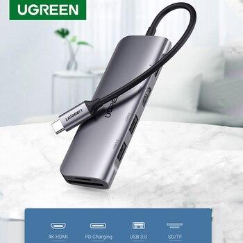 Ugreen USB C 허브 유형 C-멀티 USB 3.0 허브 MacBook Pro 용 HDMI 호환 어댑터 독 화웨이 메이트 30 USB-C 3.1 스플리터 포트