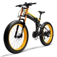 26 Fat Tire Folding Electric Bicycle 1000W 48V Snow Mountain Beach E Bike Mtb eBike Powerful Motor 5 Level Pedal Assist Sensor