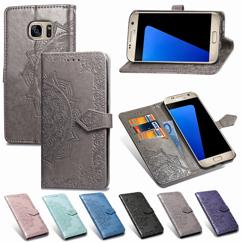 Flip Cover Leather Wallet Phone <font><b>Case</b></font> For <font><b>Samsung</b></font> Galaxy S7 S6 Edge S 7 6 6edge S6edge 7edge S7edge 7s <font><b>SM</b></font> G925F <font><b>G920F</b></font> G930F G935F image