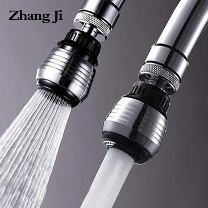 ZhangJi кухонный кран аэратор 2 режима 360 градусов Регулируемый фильтр для воды диффузор экономии воды распылитель на кран разъем для душа