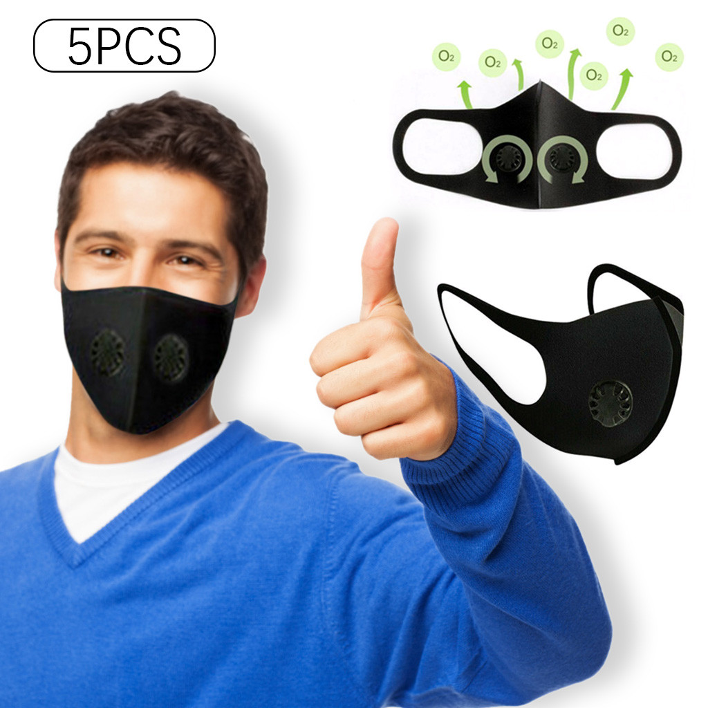 5PC reusable facemask maske Smoke Dust Air Purifying PM2.5 Face Carbon Filter Multi Layer  face maskswashable and reusable maske