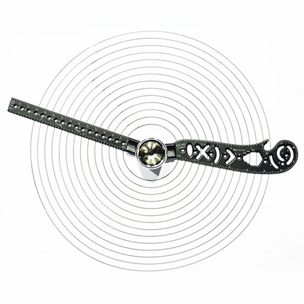 Multifunction Drawing Ruler Creative Drawing Tool Magnetic Compass Ruler For Drawing Versatile Portable Design Tool