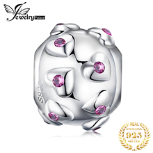 JewelryPalace Dainty Heart 925 Sterling Silver Bead Charms Original For Bracelet original Jewelry Making