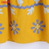 Tangada Women's Summer Embroidery Romantic Cotton Dress Strap Adjust Sleeveless 2021 Korean Fashion Lady Elegant Dresses CE313 4