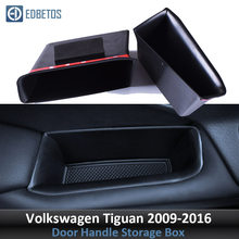 Door Handle Storage Box for Volkswagen VW Tiguan 2009 2010 - 2016 Interior Container Holder Tiguan Interior Accessories Storage(China)