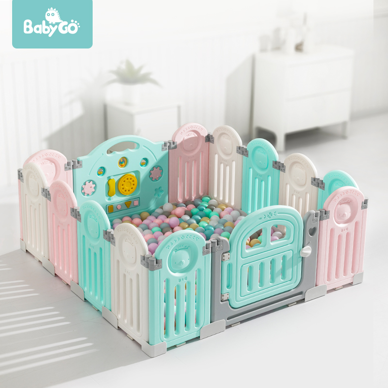 BabyGo Foldable Baby Safety Playpen Indoor Outdoor Children Activity Center Toddler Crawl Play Yard Kids Baby Fence Playground