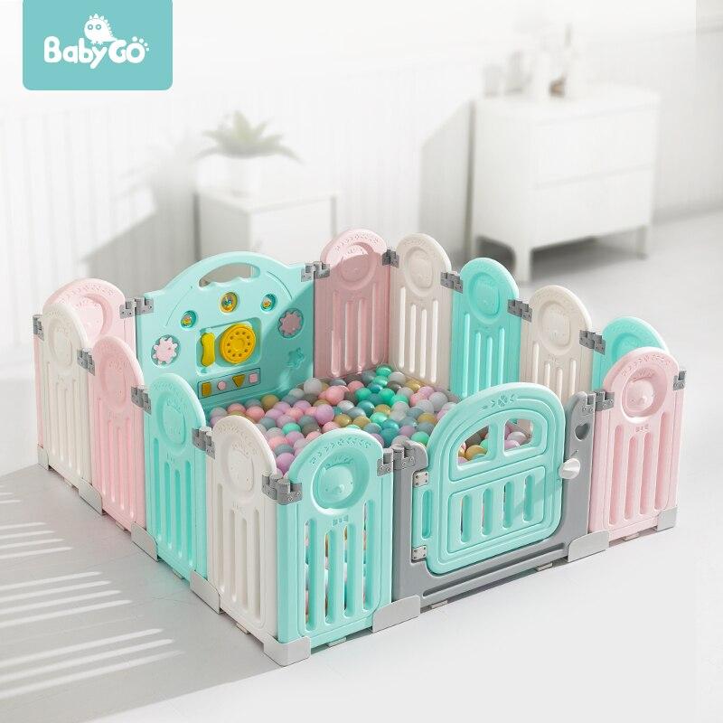 Детский складной Манеж BabyGo для безопасности детей, детский игровой центр для ползания и игры на улице, забор для детей, игровая площадка|Детские манежи| | АлиЭкспресс