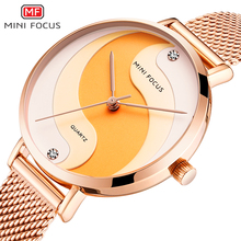 MINIFOCUS Brand Luxury Simple Women Watches Waterproof Rose Gold Stainless Steel Mesh Strap Creative Fashion Casual Ladys Watch Reloj Mujer Relogio Feminino Montre Femme Wristwatches Girl curren women watches fashion luxury stainless steel strap relogio feminino quartz wristwatch rose gold ladies watch montre femme