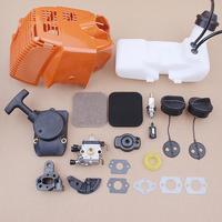 Tampa Do Tanque de gás Combustível Tampa Mortalha Recoil Starter Kit para Stihl FS75 FS80 FS85 Trimmer Peças Do Filtro De Ar 4137 350 0410