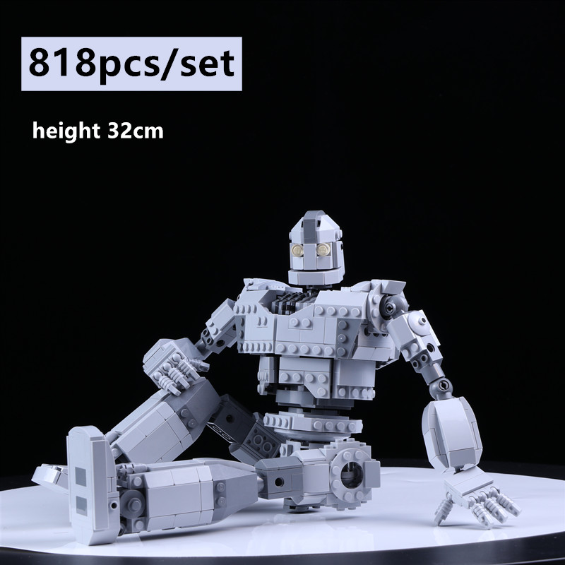 New MOC-14898 Iron Robot Technic Fit LeGINGlys Robot Voltron Giant Model Building Blocks Bricks Kid Toy Boy Gift