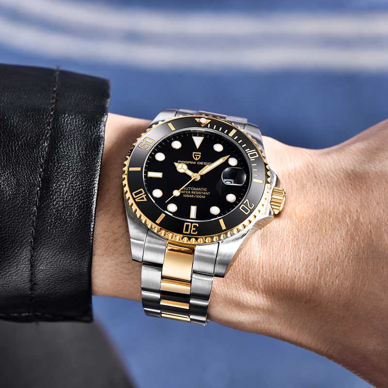 2020 パガーニデザインのメンズ腕時計トップブランドの高級機械式時計男性用ステンレス鋼自動時計男性レロジオmasculino