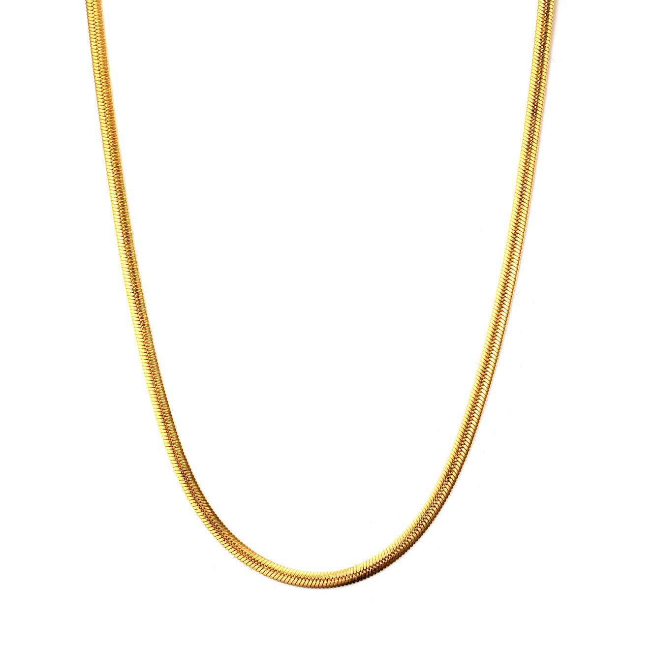 FXM in acciaio inox collana di vendita calda di colore dell'oro popolare donne single 3 millimetri Semplice fondazione collana dell'amante del regalo dei monili delle donne