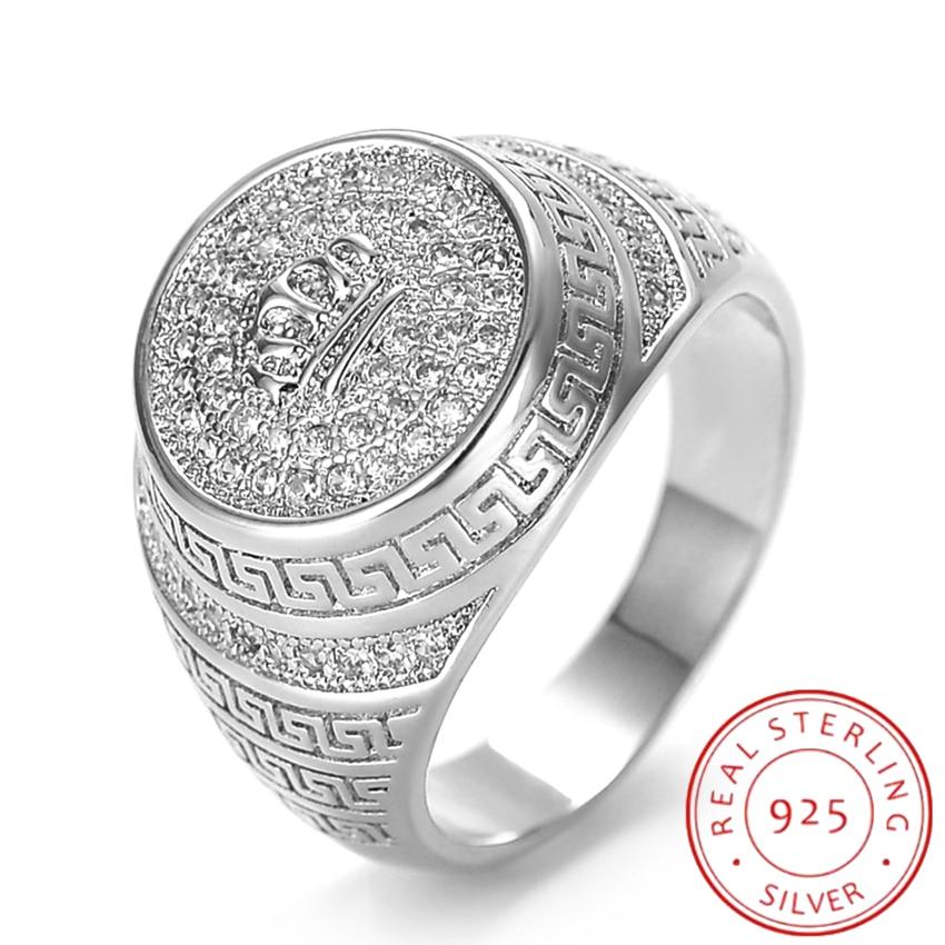 Кольцо из серебра S925 пробы, ювелирные изделия, корона, женский модный подарок, европейский и американский темперамент с высококлассными юве...