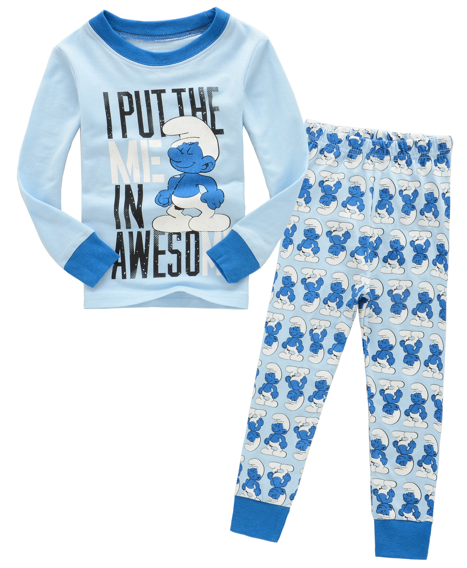 Hot Sales New Style Tracksuit CHILDREN'S Suit CHILDREN'S Pajamas Children Within Manufacturers Direct Selling Long Sleeve Tracks