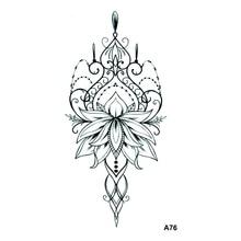 Temporary Tattoos Lotus Tatuagens Waterproof Crown Feminino Men