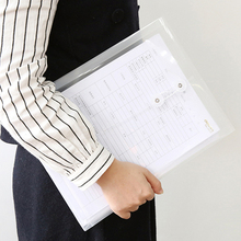 Case Document-Bag Files Transparent A4 Waterproof Paper-Organizer Expanding Office-Stationery