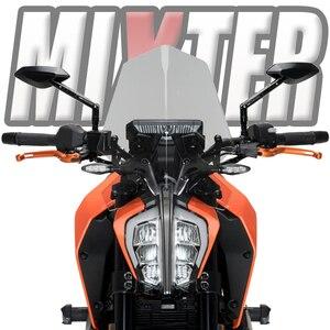Image 1 - 오토바이 스포츠 투어링 윈드 실드 윈드 디플렉터 윈드 스크린 Duke 125 Duke 390 2017 2021 Duke125 Duke390 390DUKE 125 duke