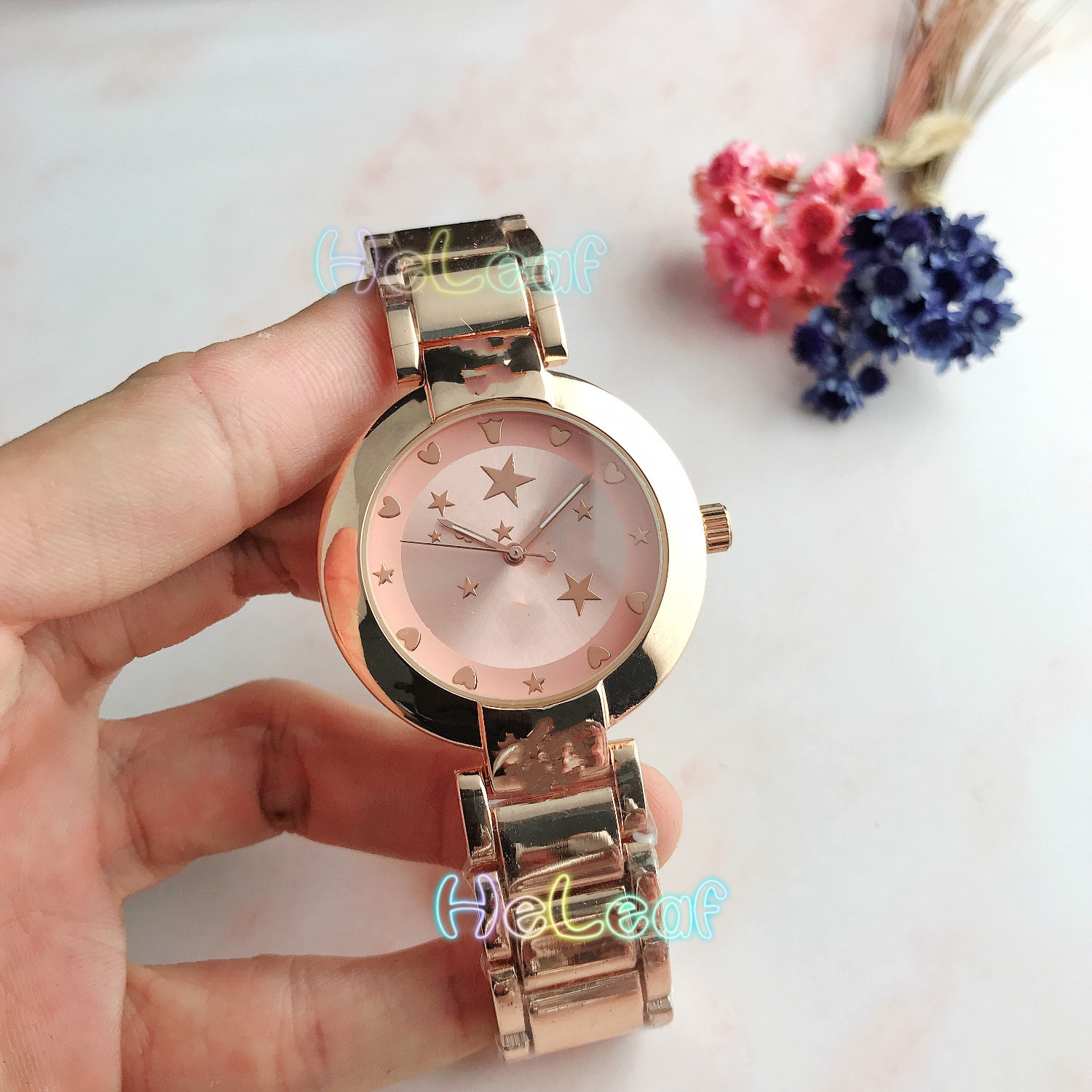 Luxury Hot Sale Brand Ladies Watches Silver Gold Full Steel Quartz Watch Female Clock Montre Femme