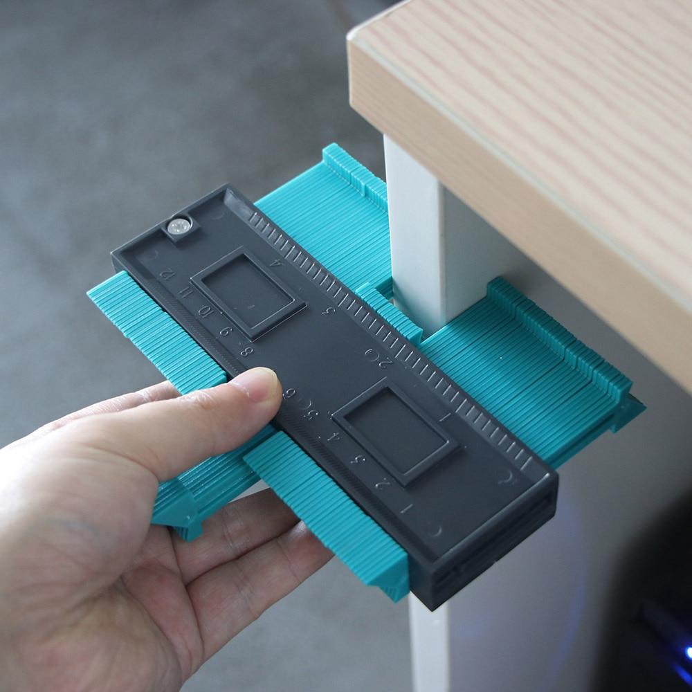 Plastic Contour Duplication Gauge Carpenter Tool Measuring Radiant Ruler Contour Meter Marking Tile Cuts Tiling Laminate Tools