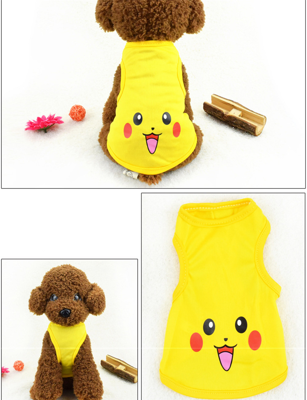 Pet Cat Clothes for Cats Summer Vest T Shirt Dog Cat Clothes Costume for Small Dogs Cartoon Vest for Puppy 35 (26)
