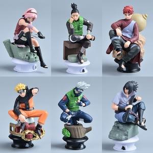 Image 1 - 7 CM 6 PCS Naruto Action Figure Toys 12 Styles Q style Zabuza Haku Kakashi Sasuke Naruto Sakura PVC Model Doll Collection Toy