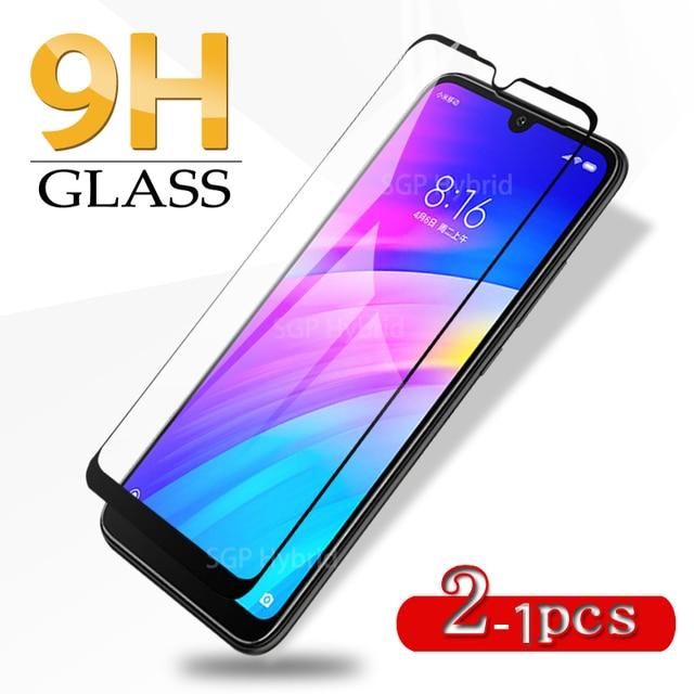 1 2pcs זכוכית לxiaomi Redmi 7 מזג זכוכית מלא כיסוי מגן בטיחות סרט על אדום mi 7 redmi7 Mi7 הגלובלי מסך מגן