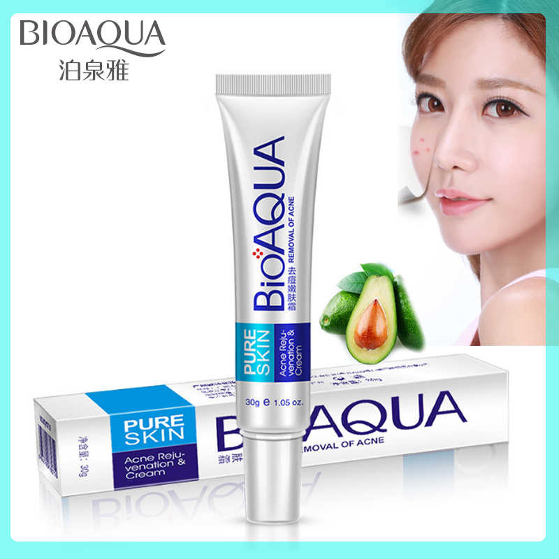 Bioaqua 30g Acne Treatment Blackhead Remova Anti Acne Cream Oil Control Shrink Pores Acne Scar Remove Face Care Whitening