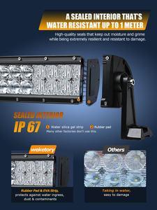 Image 4 - Weketory 5D 22 32 42 52 cale 200W 300W 400W 500W zakrzywiona listwa świetlna LED robocza do ciągnika łódź OffRoad 4WD 4x4 samochód ciężarowy SUV ATV