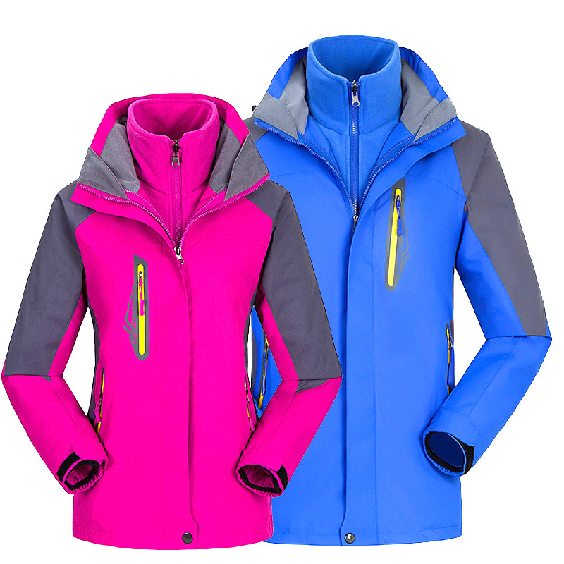Snowboard Ski Jackets Men Women Winter Warm Hooded Outdoor Waterproof Breathable Snow 2 In 1 Jackets For Hiking Camping Skiing