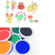 Souvenir Baby Care Non-Toxic Baby Handprint footprint Imprint Hand Casting Kit Newborn Inkless Ink Pad Infant Baby Toys New(China)