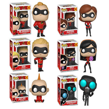 FUNKO POP Disney Movie The Incredibles 2 ElastiGirl Mr.Incredible Action Figure Toys Vinyl Decoration Model Doll for Kid Gift 1