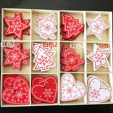 10Pcs DIY snowflake Creative Wooden Christmas Tree Pendant Home Decoration Gift Accessories Ornaments Carved Wood Bell