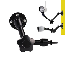 7/11 inç eklemli sihirli kol duvar montajı 1/4 vida tutucu standı Webcam için LED ışık DSLR kamera fotoğraf stüdyosu aksesuarları