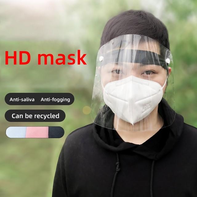 1 Pcs PVC Lightweight Transparent Face Shield Anti-splash Isolation Protective Mask Anti flu 1