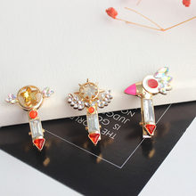 Kartu Captor Cardcaptor Sakura Magic Wand Kristal Rambut Pin Klip Lucu Perhiasan Pesona Aksesori Cosplay Prop Gift Girl(China)