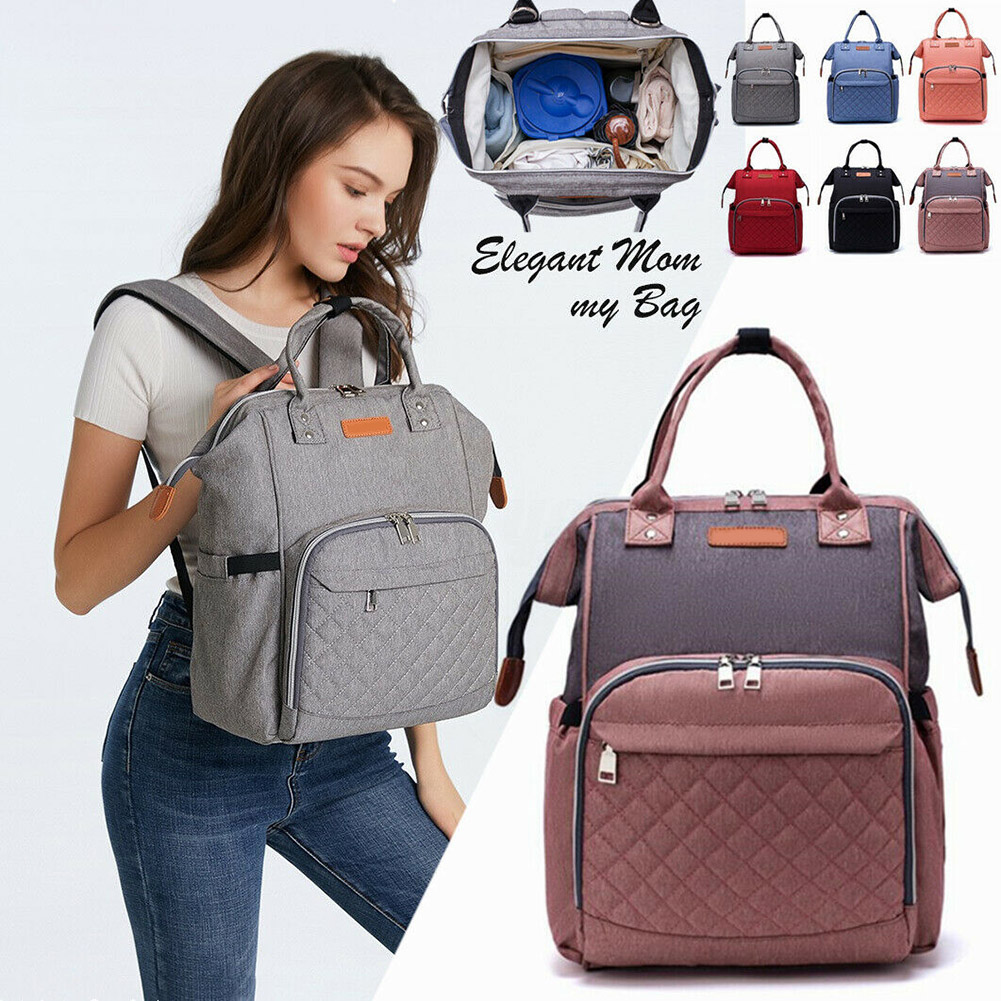 Newly Women Maternity Nappy Diaper <font><b>Backpack</b></font> Large Capacity Travel Baby Bag DO99 image