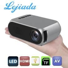 Портативный светодиодный мини-проектор LEJIADA YG320, 600 люмен, 3,5 мм, аудио, поддержка 1080P HD, воспроизведение HDMI, USB, домашний медиаплеер