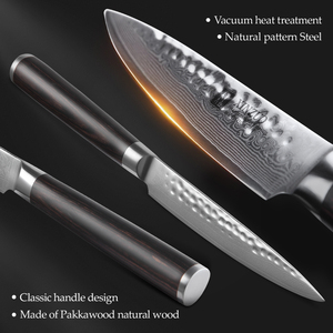 Image 4 - XINZUO 5 inch Utility Knife Damascus Steel Kitchen Knives Professional Stainless Steel Table Paring Knife Pakka Wood Handle