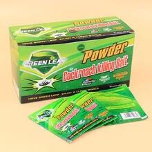 10 упаковок с изображением зеленых листьев и порошок для тараканов средство от тараканов приманка для наживки ловушка для борьбы с вредител...