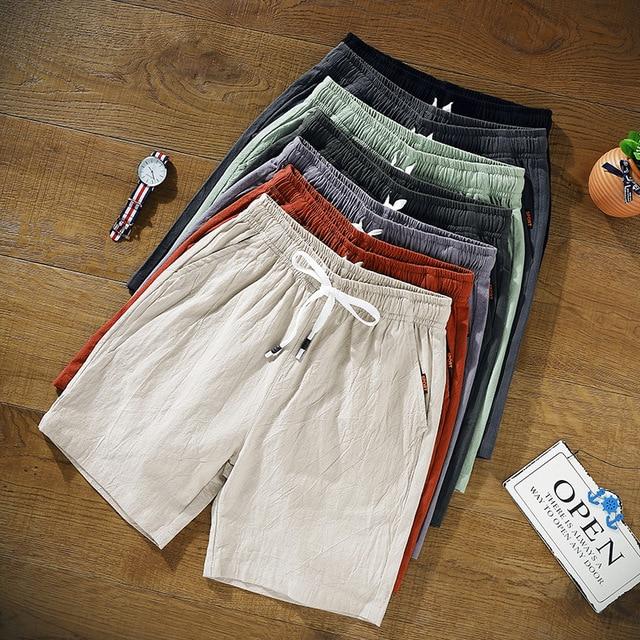 Summer Men Shorts 2020 New Loose Cotton Shorts Man Sweatpants plus size Pants