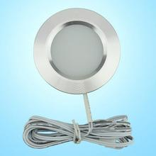 LED Under Cabinet Lights Closet Light 12V 3W Connecting Round Bookshelf Kitchen Surface Mounted Downlights Puck