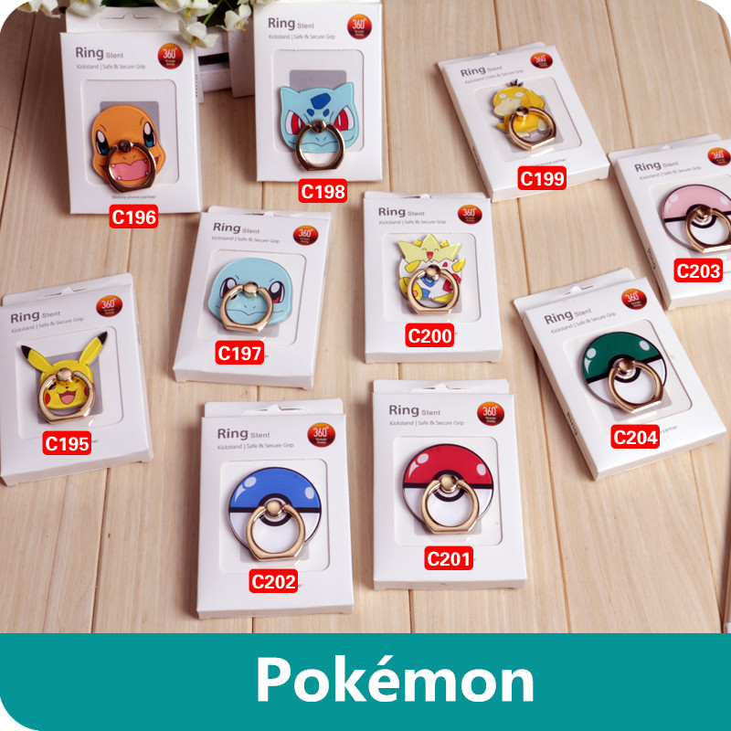anime-font-b-pokemon-b-font-go-pikachu-cospaly-prop-togepi-squirtle-mobile-phone-foothold-pocket-monster-poke-ball-phones-holder-stand-support
