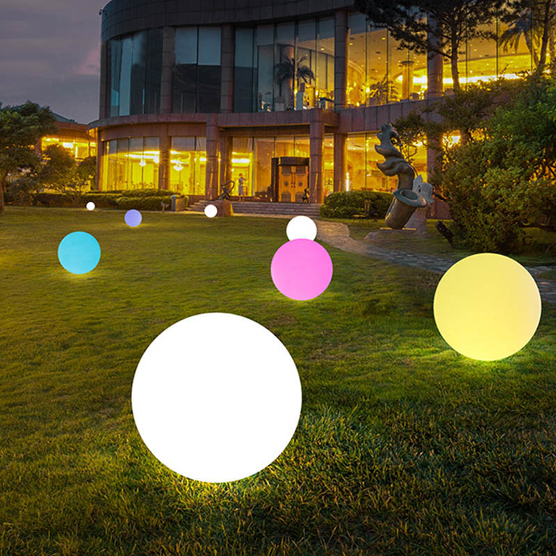 Hot Solar Power LED Ball Lamp Color Changing/Steady RGB Light Rechargeable Pool Garden Decor Light PLD