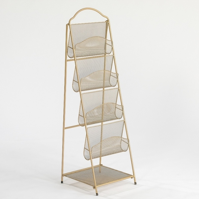 Newspaper Stand Magazine Rack Be Born Bookcase Nordic Iron Magazine Rack Promotional Display Shelf, Ratten Carrying Small Bookca
